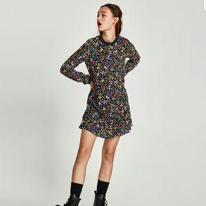Zara Floral Print Dress Size XS